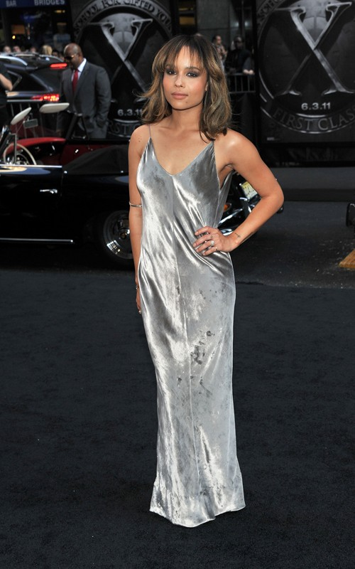Get Zoe Kravitz&-39-s T by Alexander Wang Panne Velvet Maxi Dress From ...