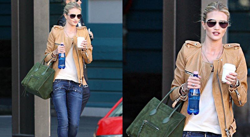f1a85f3f Get Rosie Huntington-Whiteley's Isabel Marant Sade Jacket and Pierre Balmain  Slim Fit Jeans, Worn Out and About in Sydney – Urban Sybaris