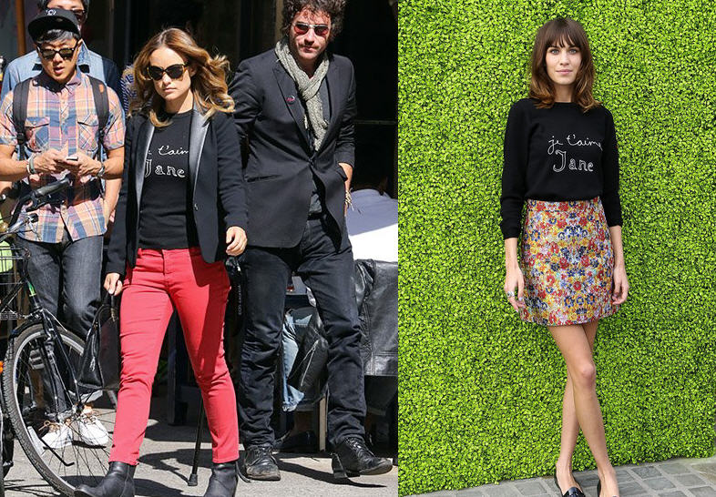 who-wore-bella-freuds-je-taime-jane-sweater-best-olivia-wilde-vs-alexa-chung