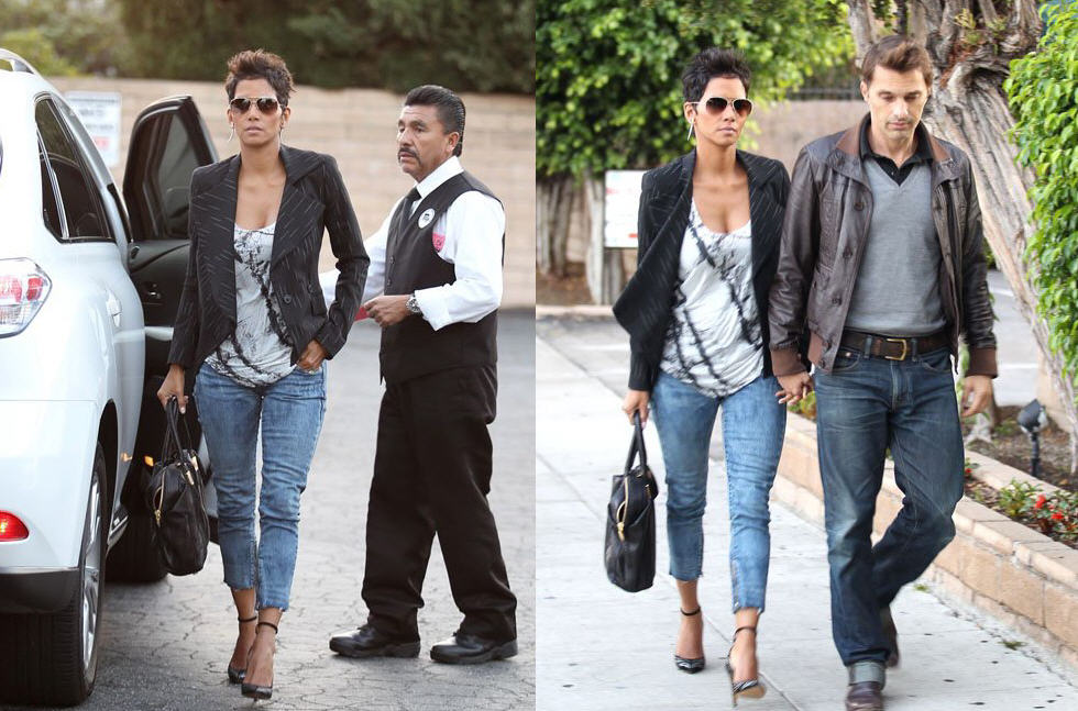 cfeced2d94 Get Halle Berry's Isabel Marant Stanley Studded Pumps and Rachel Zoe Large  Morrison Tote, Worn at Matsuhisa in Beverly Hills