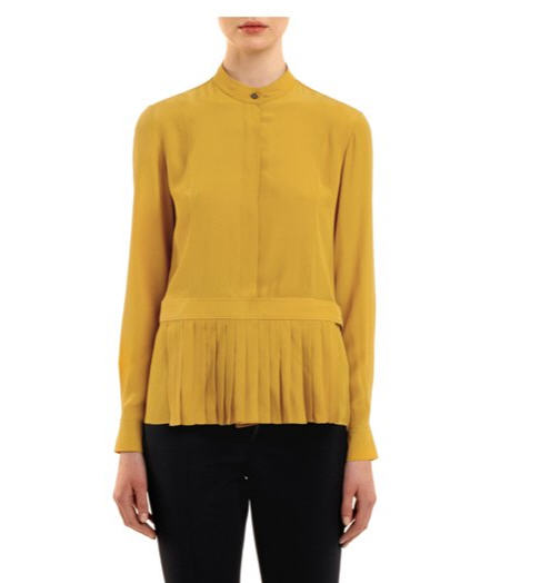 alexander-wang-ochre-pleated-apron-shirt