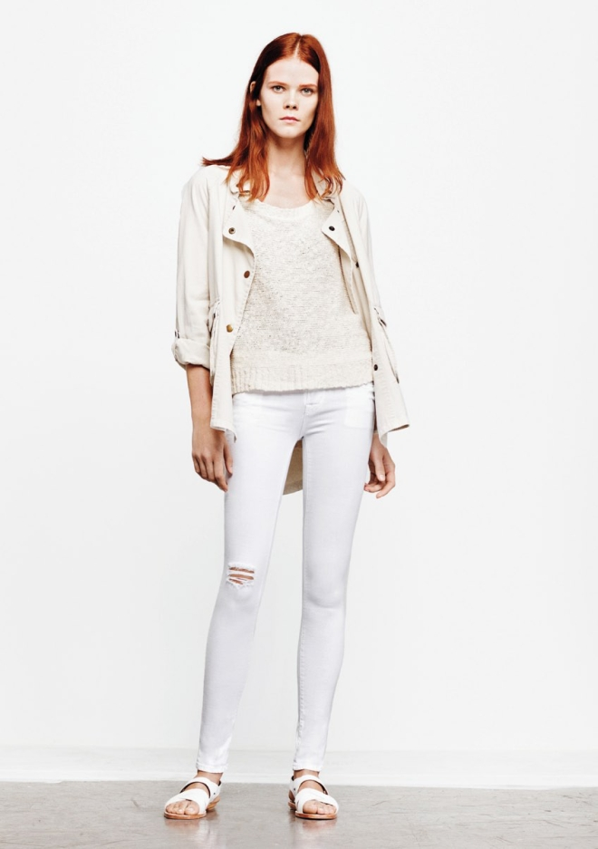 textile-elizabeth-and-james-spring-2013-lookbook-ghost-kelsey-parka-high-low-marled-pullover-destructed-white-debbie-jeans