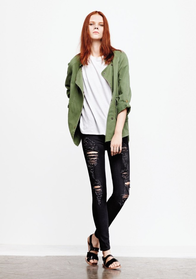 textile-elizabeth-and-james-spring-2013-lookbook-olive-kelsey-parka-long-fairfax-tee-ripped-midnight-debbie