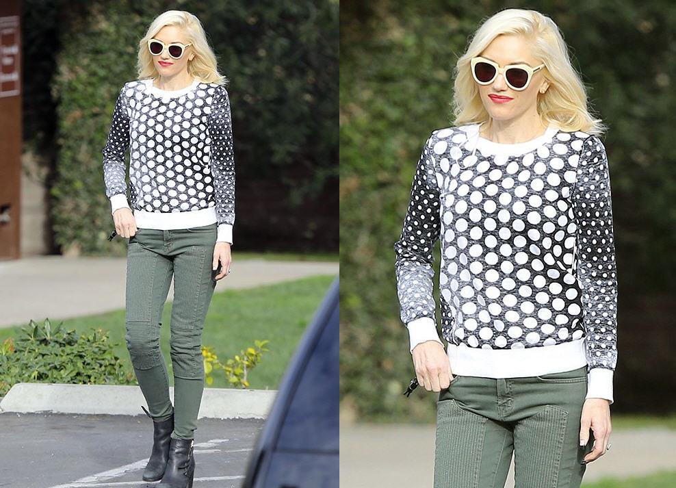 fc0a3944e4f8 Get Gwen Stefani s MICHAEL Michael Kors Dotted Knit Pullover