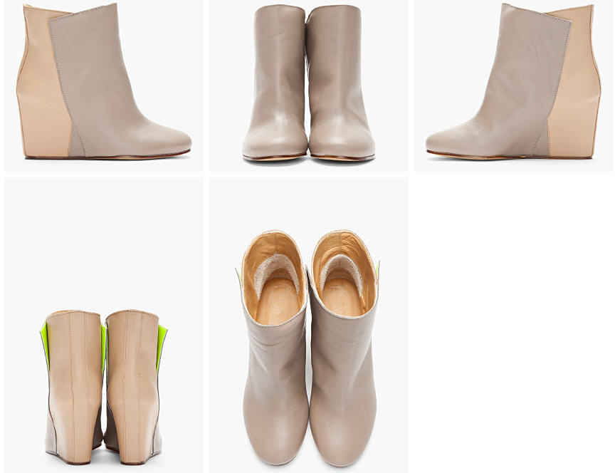 must splurge mm6 maison martin margiela s taupe two tone