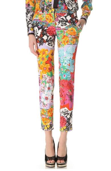 vintage-versace-floral-skinny-pants