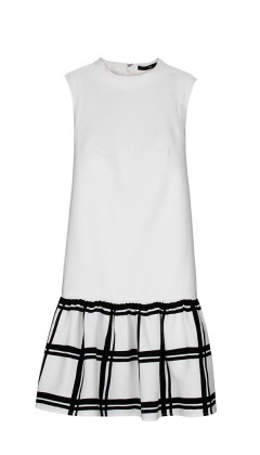 tibi-checkered-drop-waist-dress