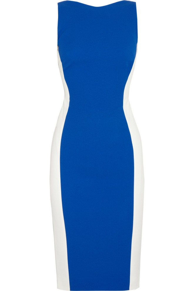 antonio-berardi-colorblock-crepe-dress