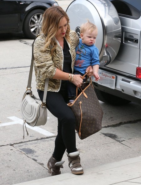 hilary-duff-restoration-hardware-west-hollywood-iro-jeffry-bomber-jacket-chloe-marcie-satchel-bag-isabel-marant-sneakers