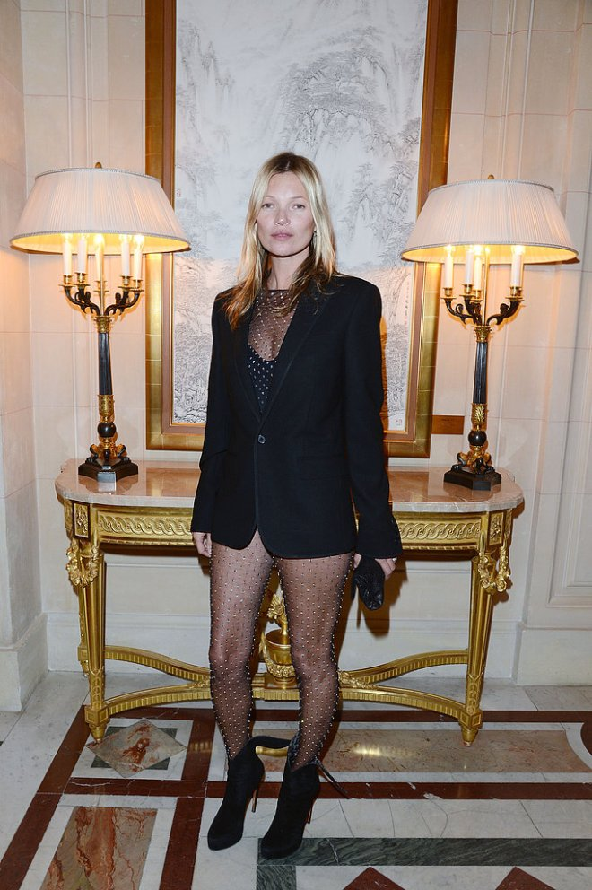 kate-moss-cr-fashion-book-issue-2-party-paris-saint-laurent-fall-2013-mens-blazer-womens-diamante-bodysuit