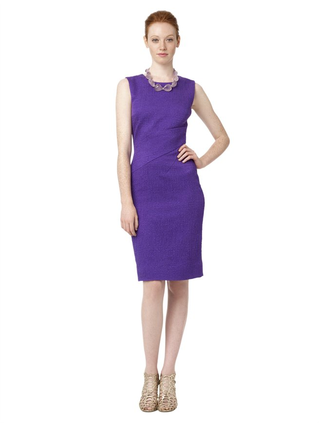 oscar-de-la-renta-purple-sleeveless-sheath-dress