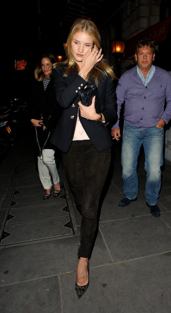 rosie-huntington-whiteley-covent-garden-london-anine-bing-suede-leggings-jimmy-choo-maya-studded-suede-pumps-1