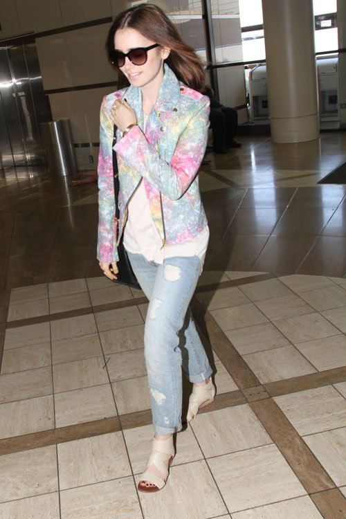 lily-collins-lax-airport-house-of-holland-tie-dye-leather-biker-jacket