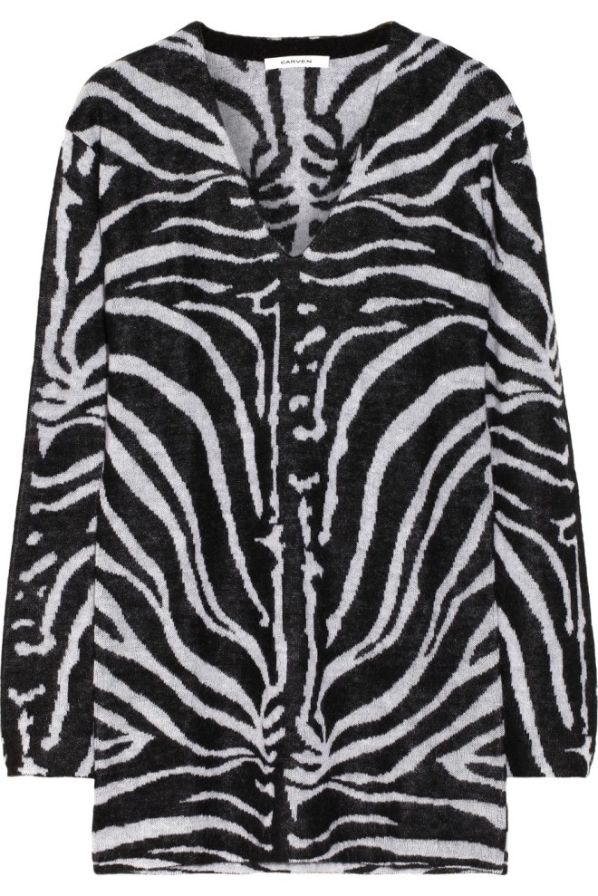 carven-zebra-patterned-knit-sweater