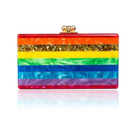 edie-parker-spring-2014-jean-rainbow-stripe-clutch