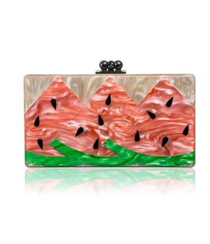 edie-parker-spring-2014-jean-watermelon-clutch