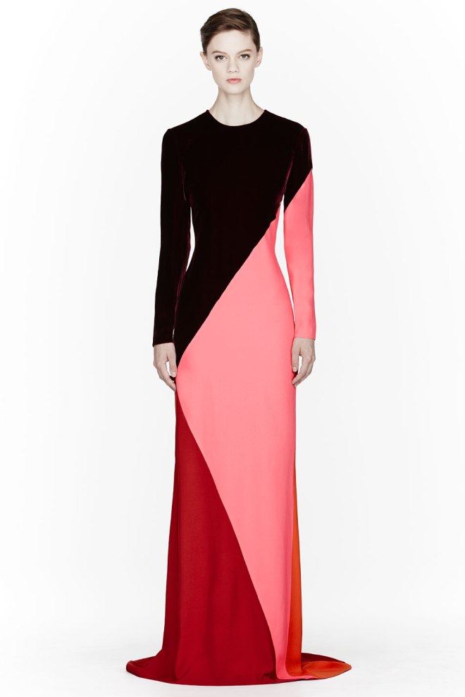 stella-mccartney-burgundy-colorblocked-silk-velvet-gown