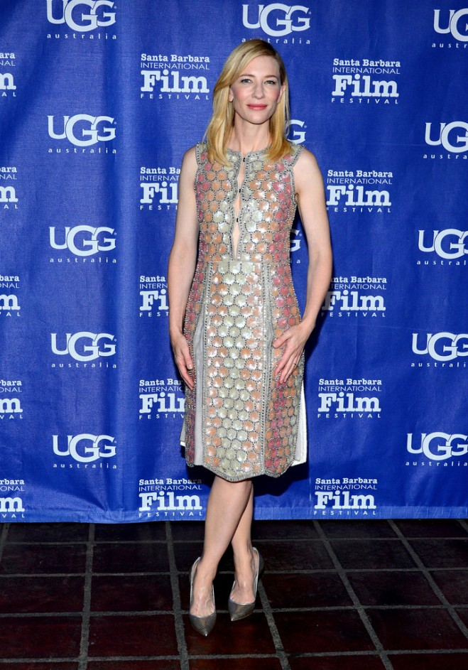 cate-blanchett-29th-santa-barbara-international-film-festival-maison-martin-margiela-spring-2014-dress-casadei-barbarella-pumps