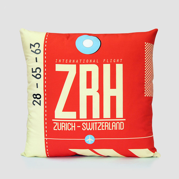airportag-zurich-pillow-cover