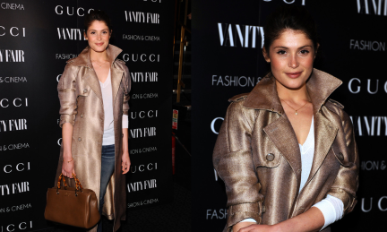 gemma-arterton-gucci-vanity-fair-the-director-london-screening-gucci-nude-double-breasted-canvas-trench-bamboo-leather-shopper-tote-patent-leather-horsebit-loafers-2