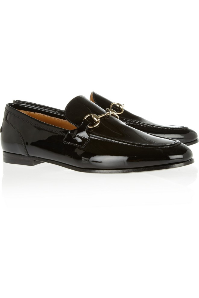 gucci-patent-leather-horsebit-loafers