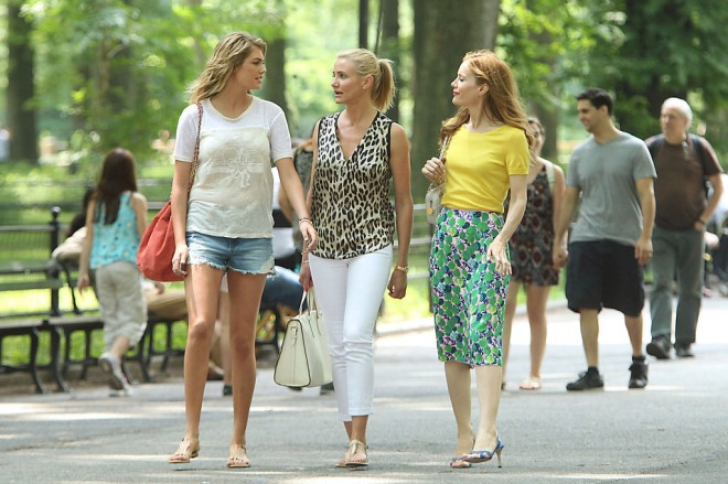 kate-upton-cameron-diaz-leslie-mann-the-other-woman-set