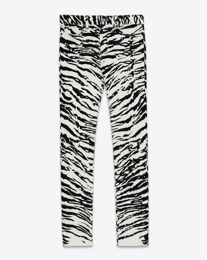 saint-laurent-original-low-waisted-skinny-jean-white-black-tiger-printed-stretch-denim