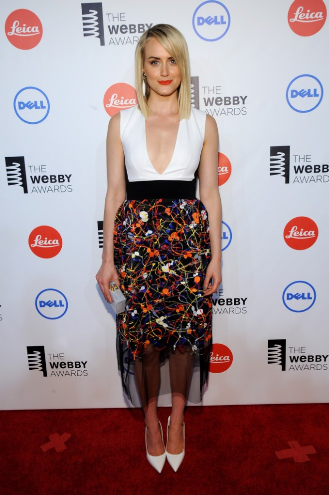 taylor-schilling-the-18th-webby-awards-new-york-city-sportmax-fall-2014-dress