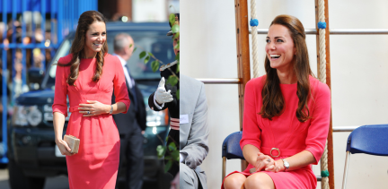 catherine-duchess-of-cambridge-counseling-program-blessed-sacrament-school-london-goat-scarlett-pleat-front-dress-jimmy-choo-gilbert-pumps-lk-bennett-natalie-clutch-2