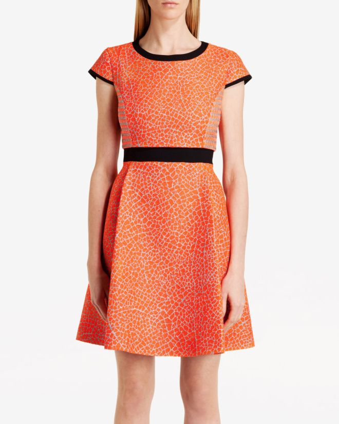ted-baker-qiara-neon-jacquard-dress
